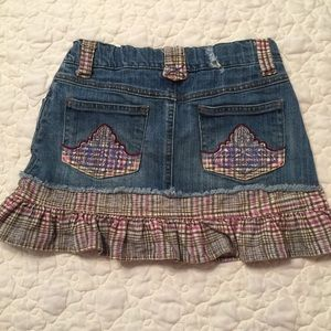 Girls Children's Place Denim Ruffled Mini Skirt
